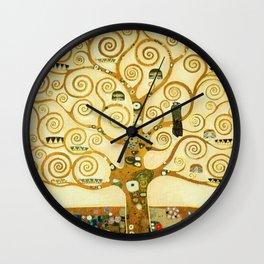 Gustav Klimt The Tree Of Life Wall Clock