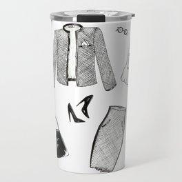 Monday Fashion Illustration Outfit Travel Mug
