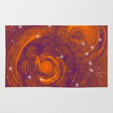 Birth of worlds in a fiery sky Rug