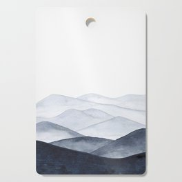 Watercolor Mountains Cutting Board