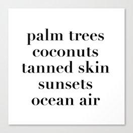 beachy things Canvas Print