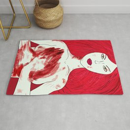 The Queen of Blood - Ruby  Rug