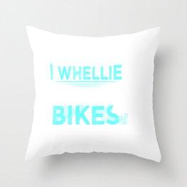Funny Dirt Bike Out Motocross Gift Wheelie Like Dirt Bikes Product Throw Pillow