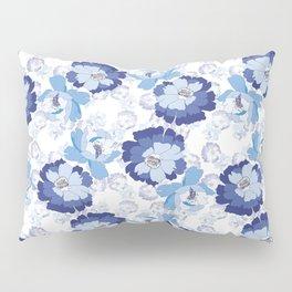 Blue Floral beauty Pillow Sham