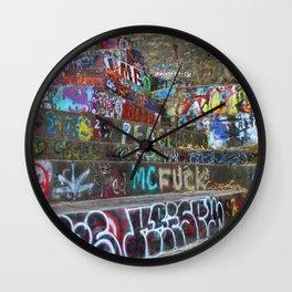 Graffiti in the wild Wall Clock