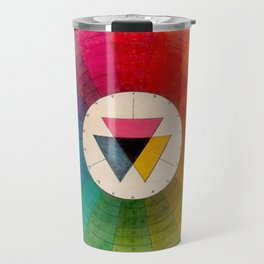 Color Wheel Vintage Antique Illustration Travel Mug