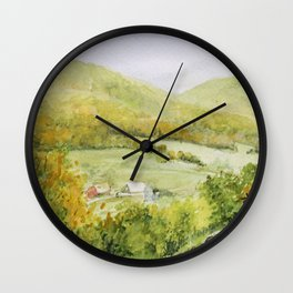 Autumn Fall on a Vermont Town Wall Clock