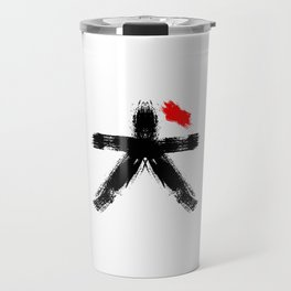 Hieroglyph symbol Japan word Dog Travel Mug