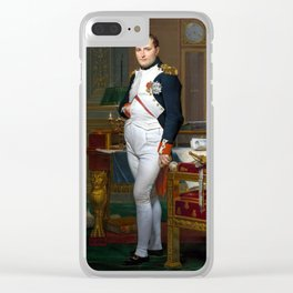 Jacques-Louis David The Emperor Napoleon in His Study at the Tuileries Clear iPhone Case