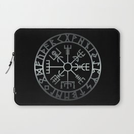 Vegvísir (Icelandic 'sign post') Symbol - REEL STEEL Laptop Sleeve