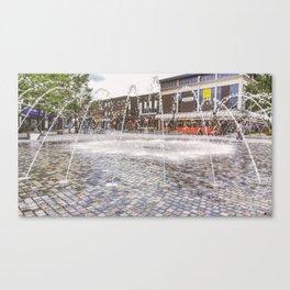 wakefield water fountain Canvas Print