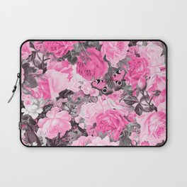 Floral pink vintage pattern Laptop Sleeve