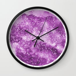 Northern Stars Rose Wall Clock