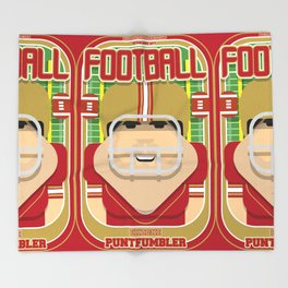 American Football Red and Gold - Enzone Puntfumbler - Victor version Throw Blanket
