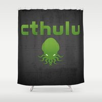cthulhu Shower Curtains featuring Cthulhu? by XANTHIER