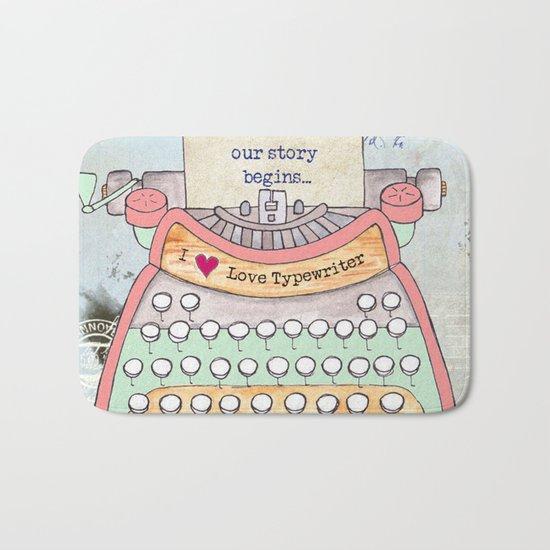 Typewriter #7 Bath Mat