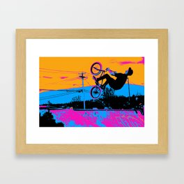 BMX Back-Flip Framed Art Print