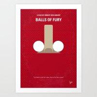 No822 My Balls of Fury minimal movie poster Art Print