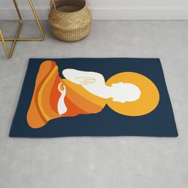 Lord Buddha Illustration Rug