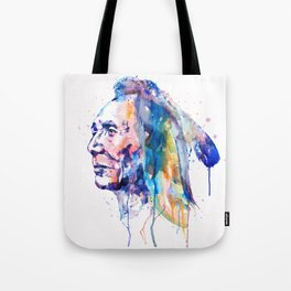 Sioux Warrior Watercolor Tote Bag
