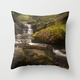 Sgydau Sychryd waterfalls Throw Pillow