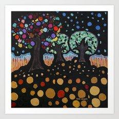 :: Night Forest :: Art Print