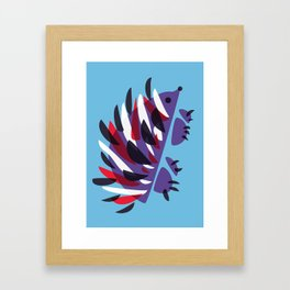 Colorful Abstract Hedgehog Framed Art Print