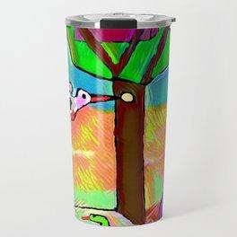 The beaten woodpecker Travel Mug