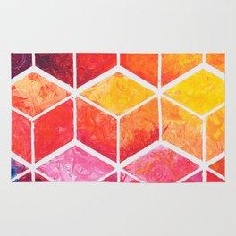 Cubes - Colorful Geometric Rug
