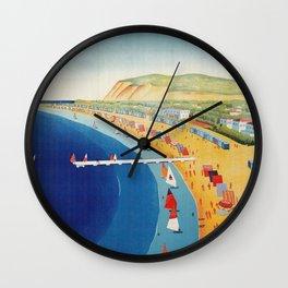 Cattolica 1920s Italy travel Wall Clock