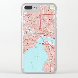Vintage Map of Jacksonville Florida (1964) Clear iPhone Case