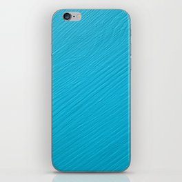 Light blue painted wood iPhone Skin