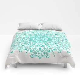 Moroccan Mandala – Turquoise Palette Comforters
