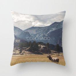 Colorado wild Throw Pillow