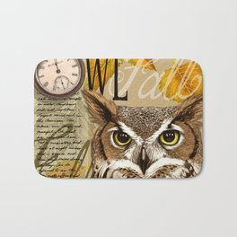 The Great Horned Owl Bath Mat