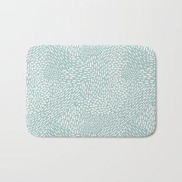 Abstract Brush Strokes, Sea Foam Bath Mat