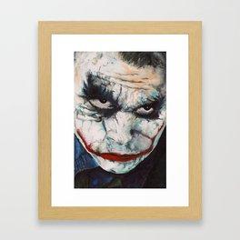 Heath Ledger, The Joker Framed Art Print