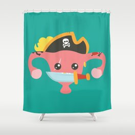 Avast, me hurties Shower Curtain