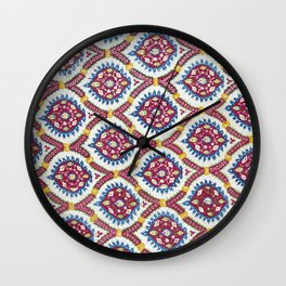 Floral Fabric Vintage Material Wall Clock