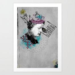 Lewis Carroll Alice on My Mind Art Print