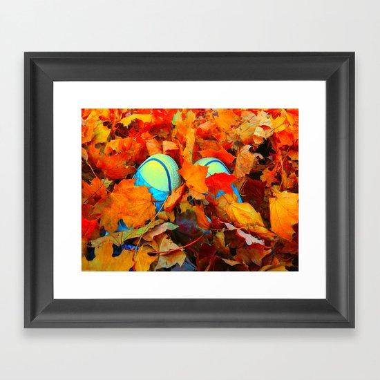 Feet First into Fall Framed Art Print