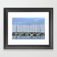 Milwaukee Sailboats Framed Art Print