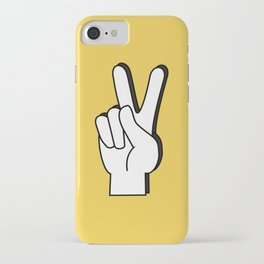 Peace Sign yellow iPhone Case