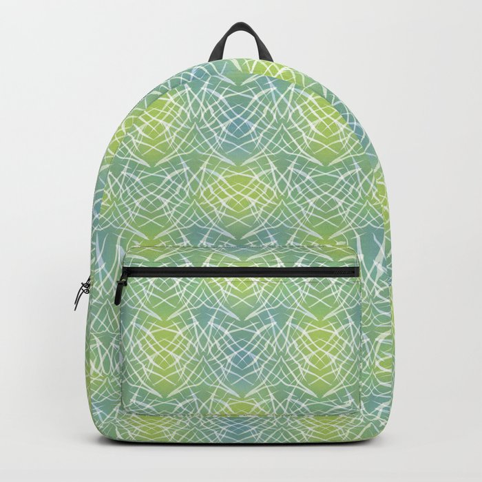 Abstract pattern .    Yellow blue . Backpack