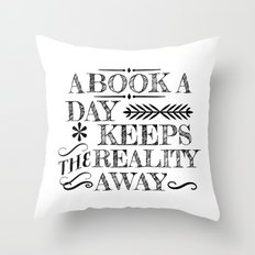 A Book A Day... Throw Pillow
