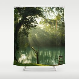 Beam of light Shower Curtain