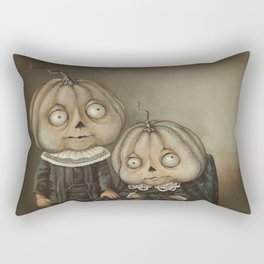 Rucus Studio Ghoul Kids Pumpkins Rectangular Pillow