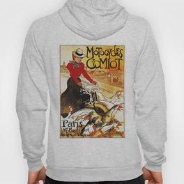 Vintage Comiot Motorcycle Ad - Paris Hoody