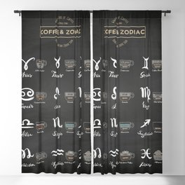Coffee type and Zodiac sign #1 Blackout Curtain