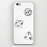 dungeons and dragons iPhone & iPod Skins featuring Dungeons and Dragons Dice by mrcarter